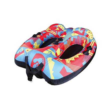 Double Rider Towable tube with Backrest